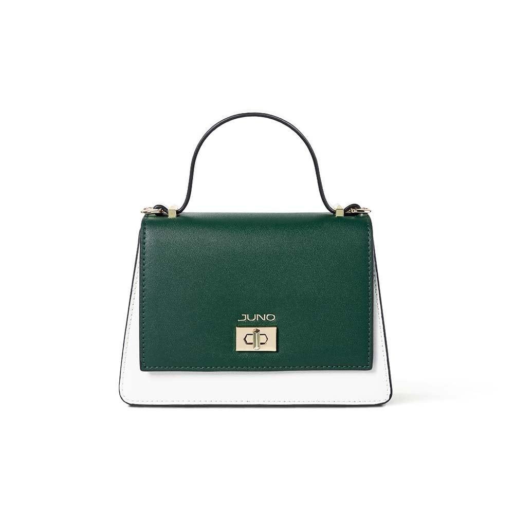 Túi xách nữ thời trang JUNO nhỏ nắp gập 2 màu