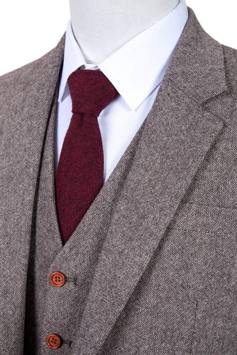 vải tweed dạng barlycorn