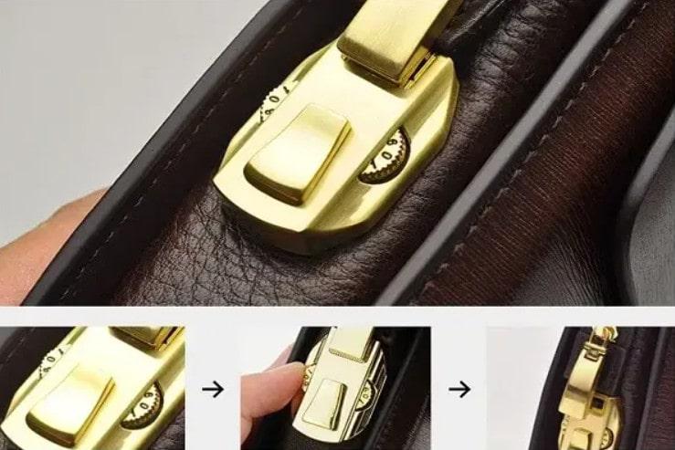 Ví da nam cầm tay cao cấp luôn bảo vệ tài sản được an toàn nhất nhờ khóa kéo chất lượng cao