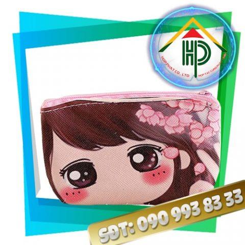 Ví ngắn cầm tay họa tiết sakura