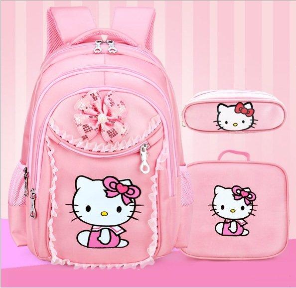 Balo kéo học sinh cao cấp Hello Kitty cho bé gái