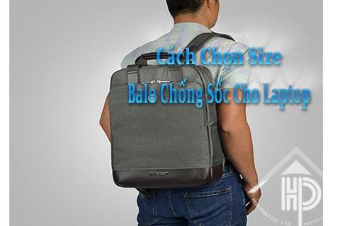 cách chọn size balo laptop chống sốc