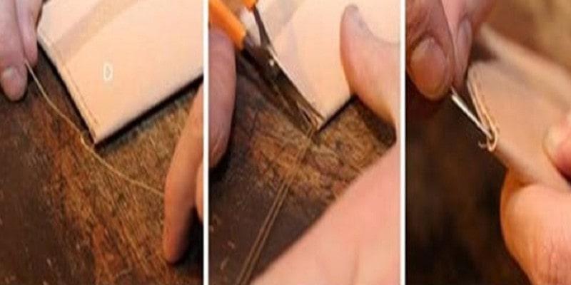 Buộc các góc bằng cách thắt 3 nút liên tục