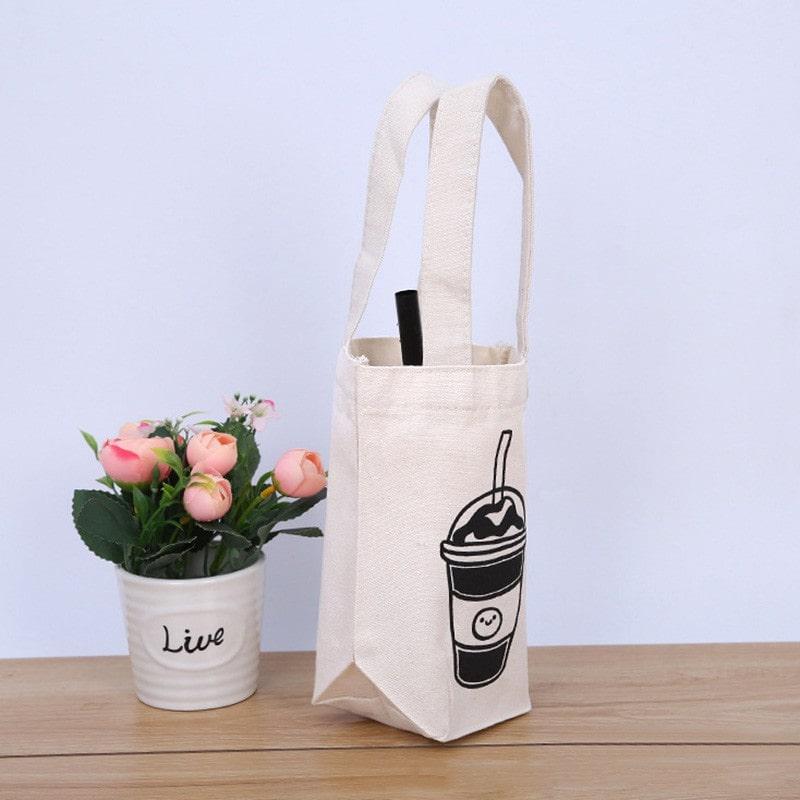 Túi vải canvas đựng bình nước- Dòng sản phẩm 2 trong 1