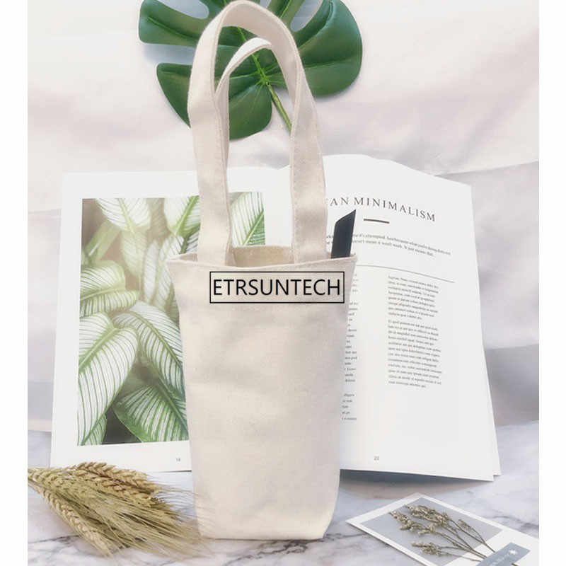 Túi vải canvas đựng bình nước vô cùng tiện dụng và đẹp mắt