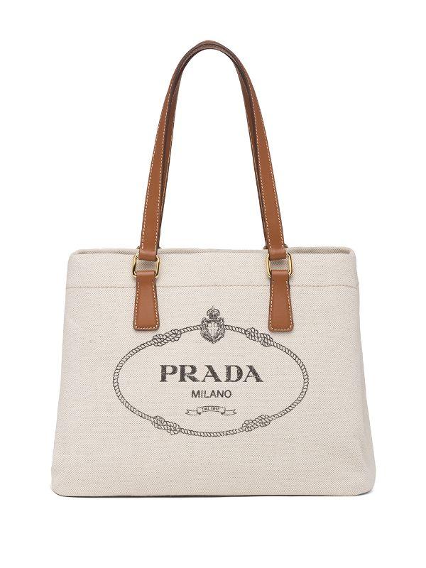 túi vải canvas Prada