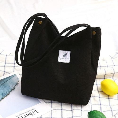 Túi xách vải đeo chéo dáng Unisex