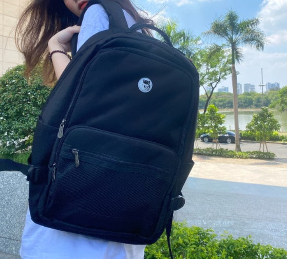 Balo đen Mikkor The Louie Backpack