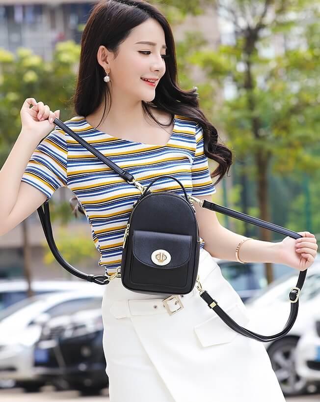 Cách phối balo mini với những bộ trang phục dạo phố