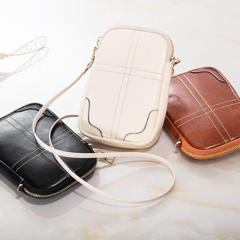 Túi đeo chéo nữ mini da bò đựng điện thoại thông minh