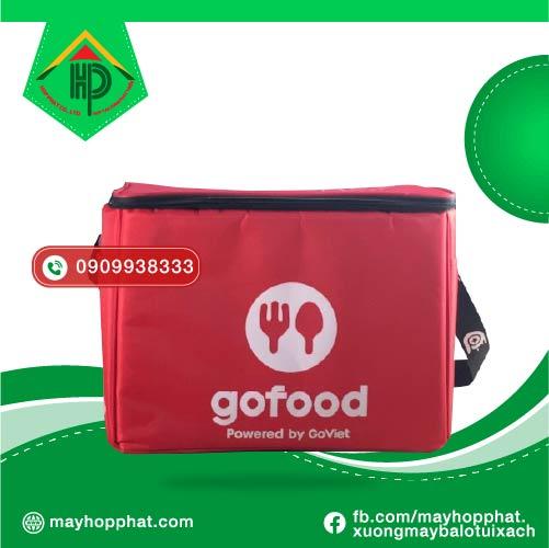 Túi giao hàng Gofood mặt trước