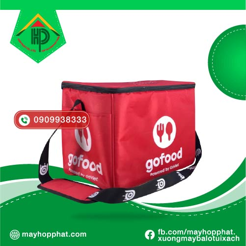 Túi giao hàng Gofood mặt hông