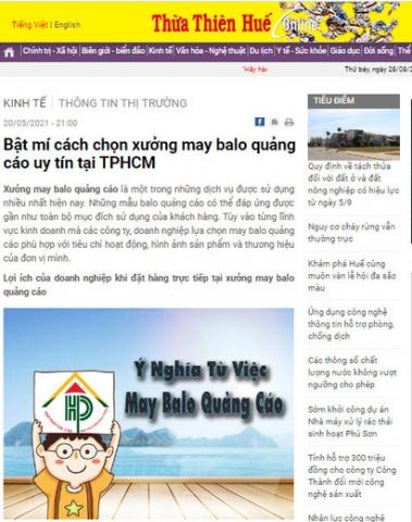 Vị thế của Hợp Phát được khẳng định trên báo Thừa Thiên Huế